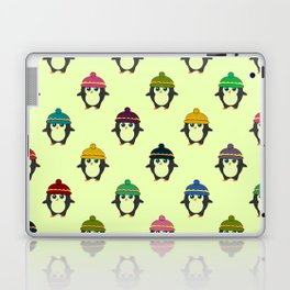 Penguins with colorful beanies Laptop & iPad Skin
