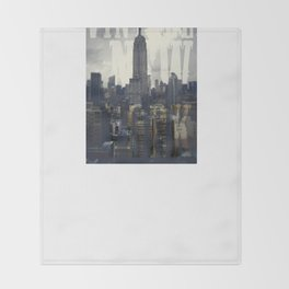 Vintage New York Throw Blanket