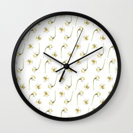 Dancing Daffodils Wall Clock