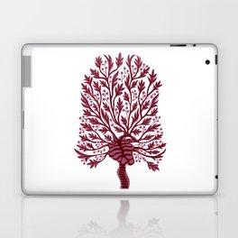 Skeleton Hawthorn Tree White Laptop & iPad Skin