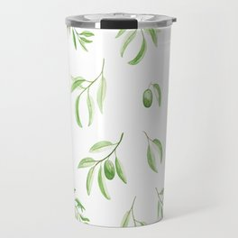Olives watercolor pattern Travel Mug