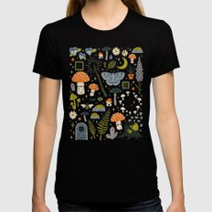 Fairy Garden Black LARGE Womens Fitted Tee