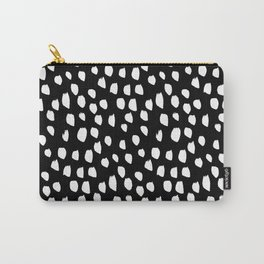 Handdrawn drops and dots on black - Mix & Match with Simplicty of life Carry-All Pouch