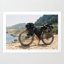 The Kyrenia Mountains Art Print