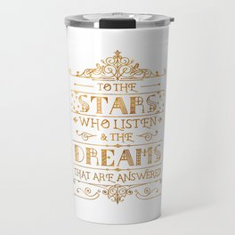 To the Stars - White Travel Mug
