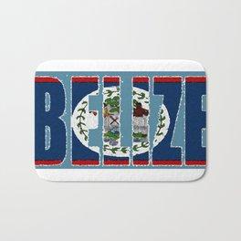 Belize Map with Belizean Flag Bath Mat