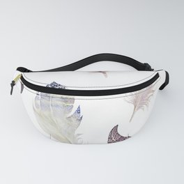Trial feathers pattern Fanny Pack