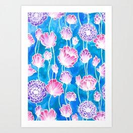 Blues and Pinks Art Print