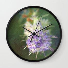 Textured Hebe Macro Wall Clock