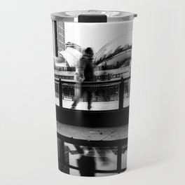 Chicago Bean/ Ice Rink Travel Mug