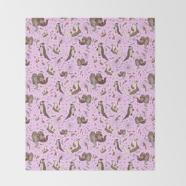 Cute Otters :) Throw Blanket