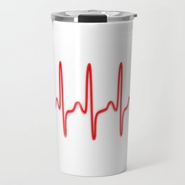 Ekg Heart Stethoscope Travel Mug