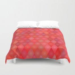 Geometric red pattern Duvet Cover