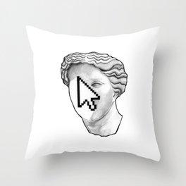 Cursor face Throw Pillow