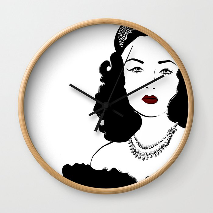 Queen Fawzia Wall Clock