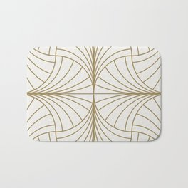 Diamond Series Inter Wave Gold on White Bath Mat
