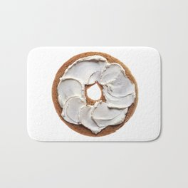 Bagel with Cream Cheese Bath Mat
