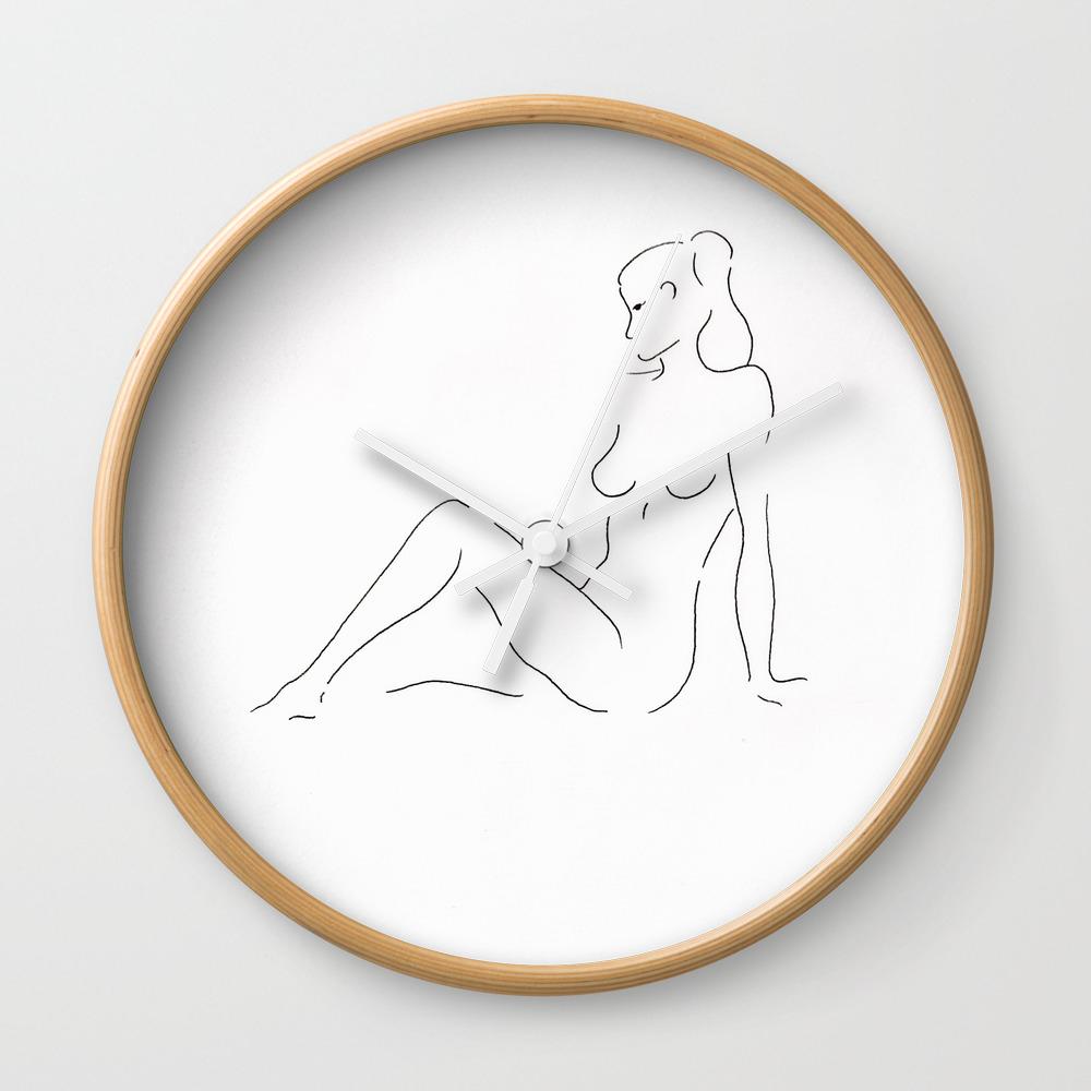 Sitting Woman Wall Clock by Savandar CLK9126060