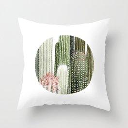 Circular Cacti Throw Pillow