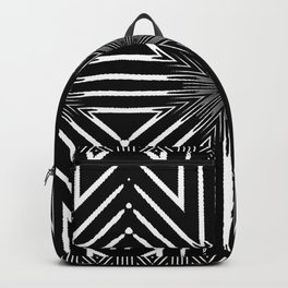 Tribal Black and White African-Inspired Pattern Backpack