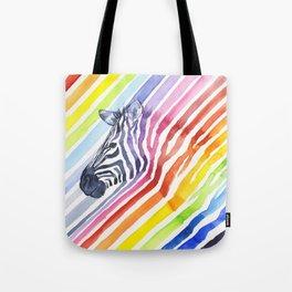 Animal Zebra Rainbow Tote Bag