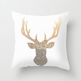 GOLD DEER Throw Pillow