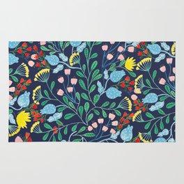 Floral Garden - Blue Rug