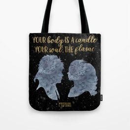 Winterson Your body is a candle Tote Bag