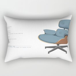 Eames Lounge Chair Rectangular Pillow