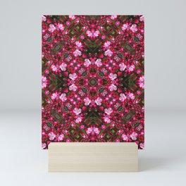 Spring blossoms kaleidoscope - Strawberry Parfait Crabapple Mini Art Print
