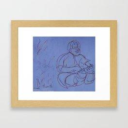 Music2. Painting Framed Art Print