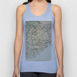 Vintage and Retro Map of Southern Ireland Unisex Tank Top