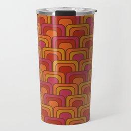 Geometric Retro Pattern Travel Mug