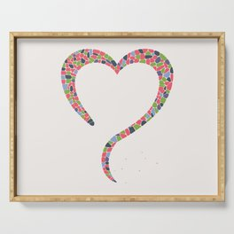 AFE Heart Shaped Terrazzo Pattern Serving Tray