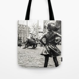 Fearless Girl & Bull - NYC Tote Bag