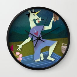 Serenading Unicorn Wall Clock