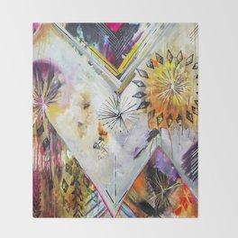 """Burn Bright"" Original Painting by Flora Bowley Throw Blanket"