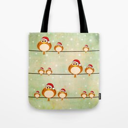 christmas birds Tote Bag