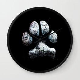 Dog Paw Print Pop Art Animal Lovers - South Paw Wall Clock