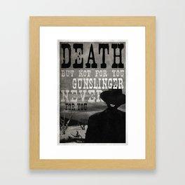 Man in Black - Walter Framed Art Print