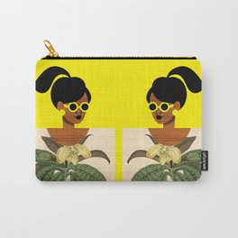 Ponytail Girl with Nature Shirt Carry-All Pouch