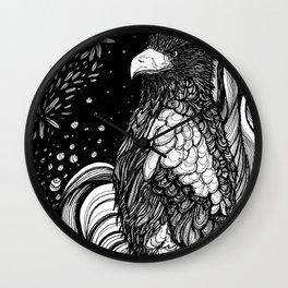 Steller's sea eagle (Haliaeetus pelagicus) Wall Clock