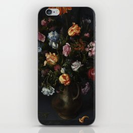 Jacob Vosmaer - A Vase with Flowers iPhone Skin