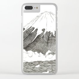 Mt Fuji and Delphines Clear iPhone Case