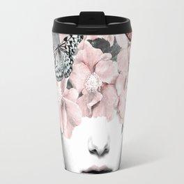 WOMAN WITH FLOWERS 10 Travel Mug