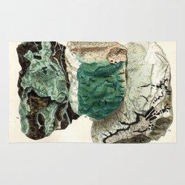 Vintage Mineralogy Illustration Rug