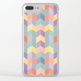Colorful geometric blocks Clear iPhone Case