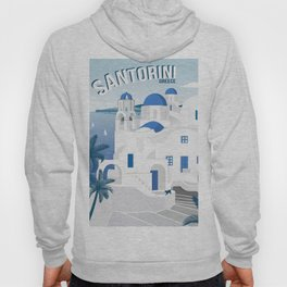 Vintage Santorini poster Hoody