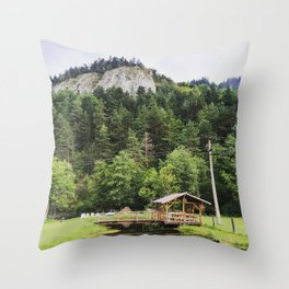 Romanian Landscape Throw Pillow