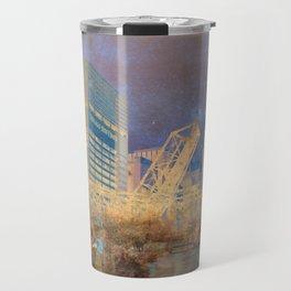 Drawbridge Chicago River City Skyline Travel Mug